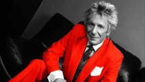 Gerry Trew as Rod Stewart with live band