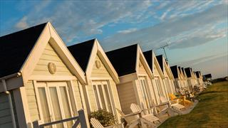 Carousel Item 1: Clifftop Lodges at Corton Coastal Village.